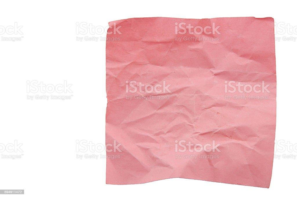 Paper crumpled.Idea failure. stock photo