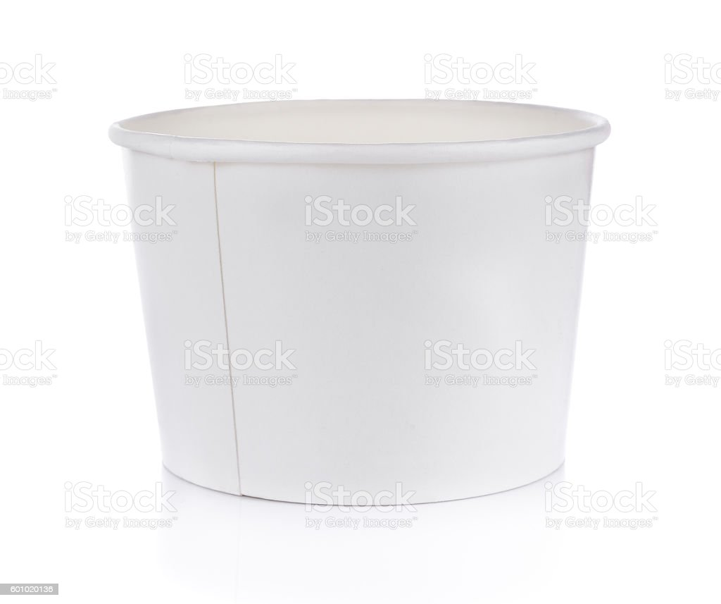 Paper cup on white stock photo