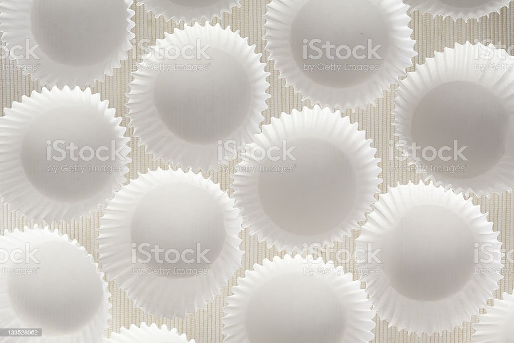 Paper cupcake liners stock photo
