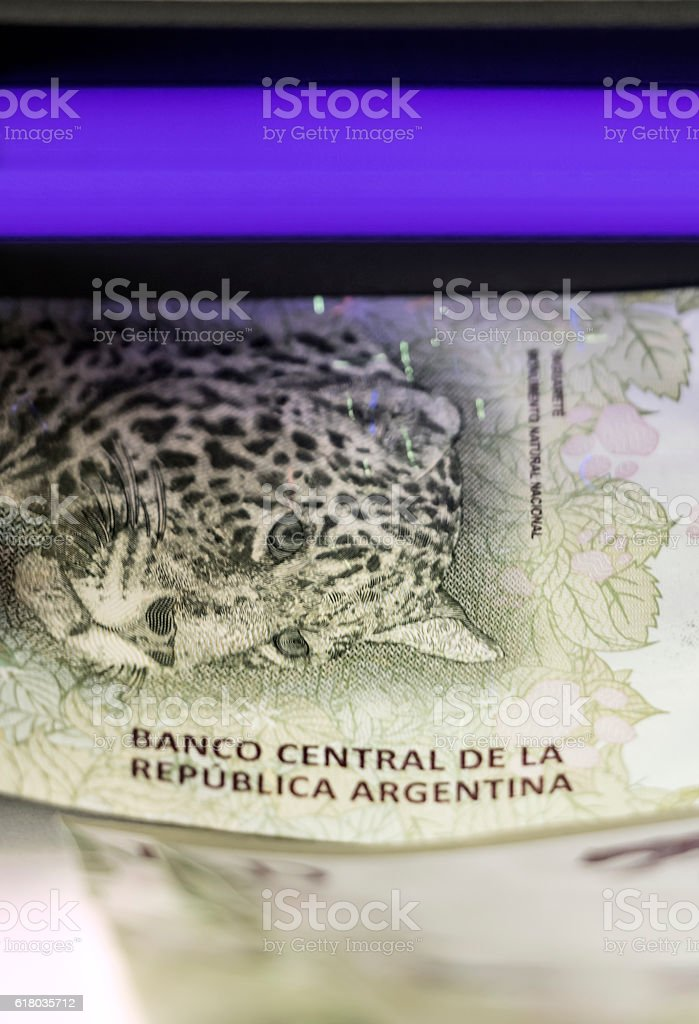 Paper currency control stock photo