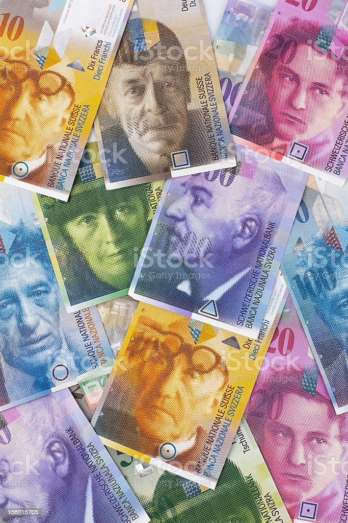 Paper currency from switzerland royalty-free stock photo