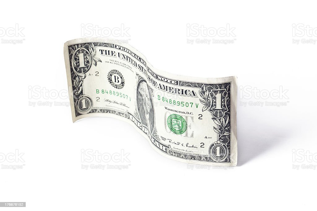 paper currency wave royalty-free stock photo