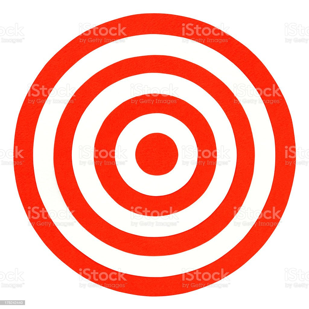 Paper cut bull's eye stock photo