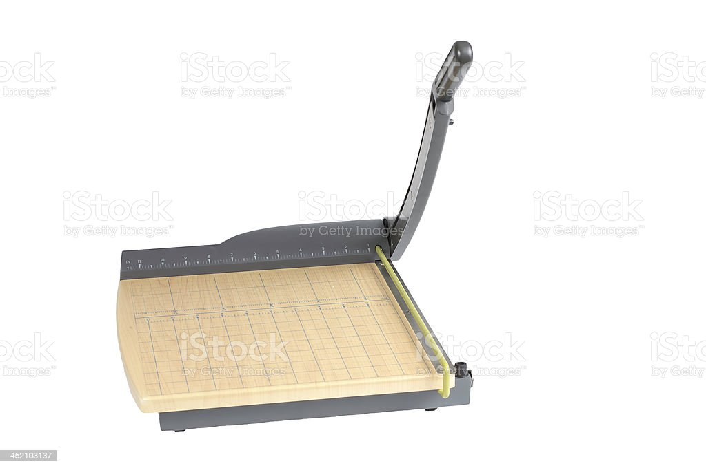 Paper Cutter Isolated stock photo
