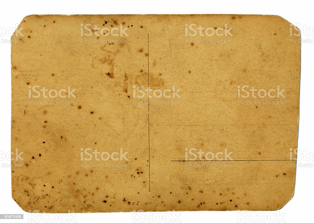 paper damage postcard stock photo