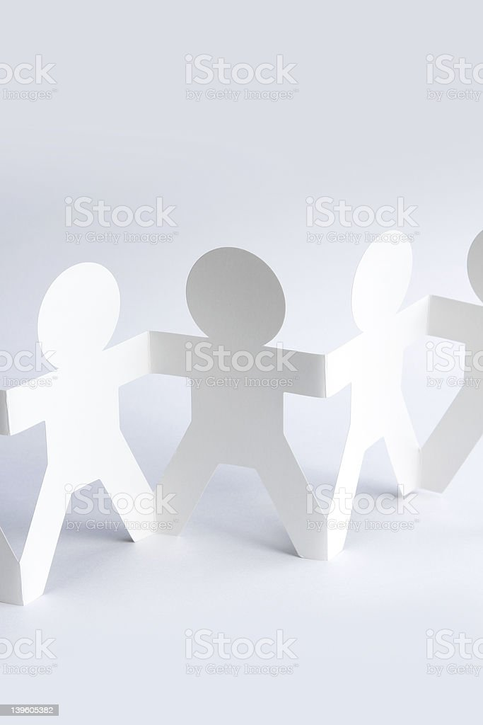 Paper doll team royalty-free stock photo