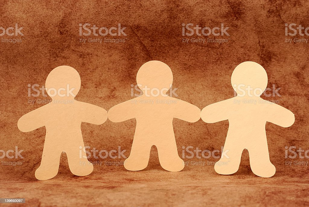 Paper Dolls royalty-free stock photo