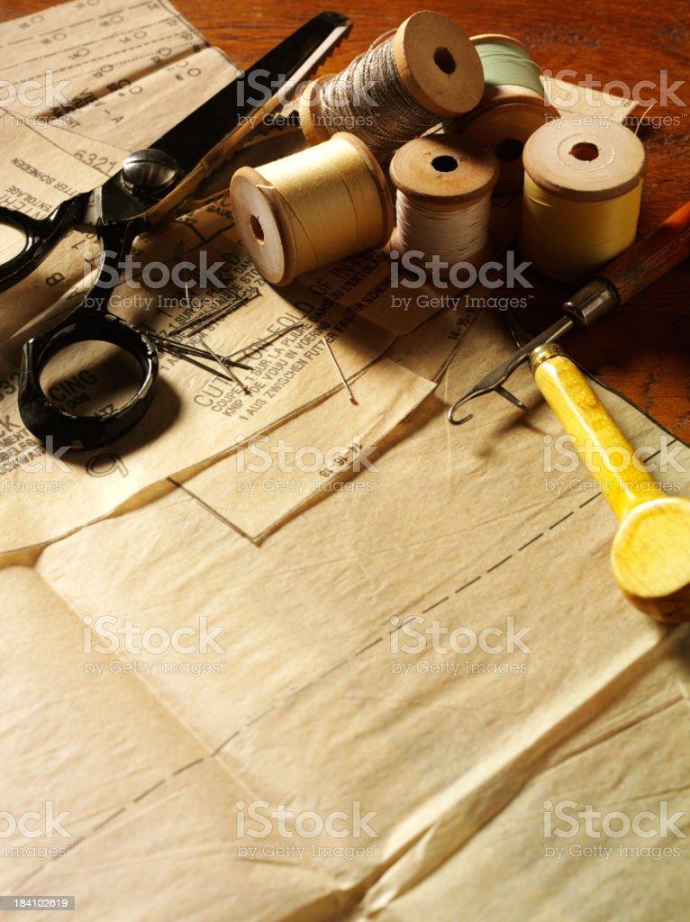 Paper Dressmakers Pattern stock photo