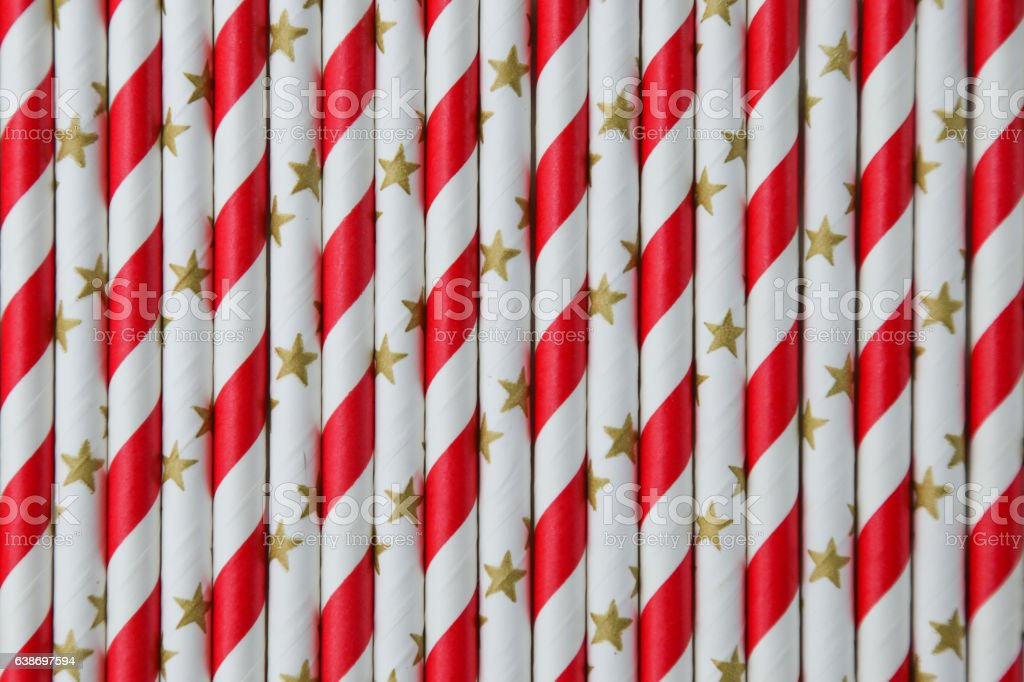 paper drinking straws stock photo