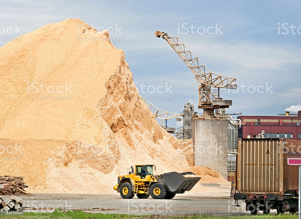 Paper factory stock photo