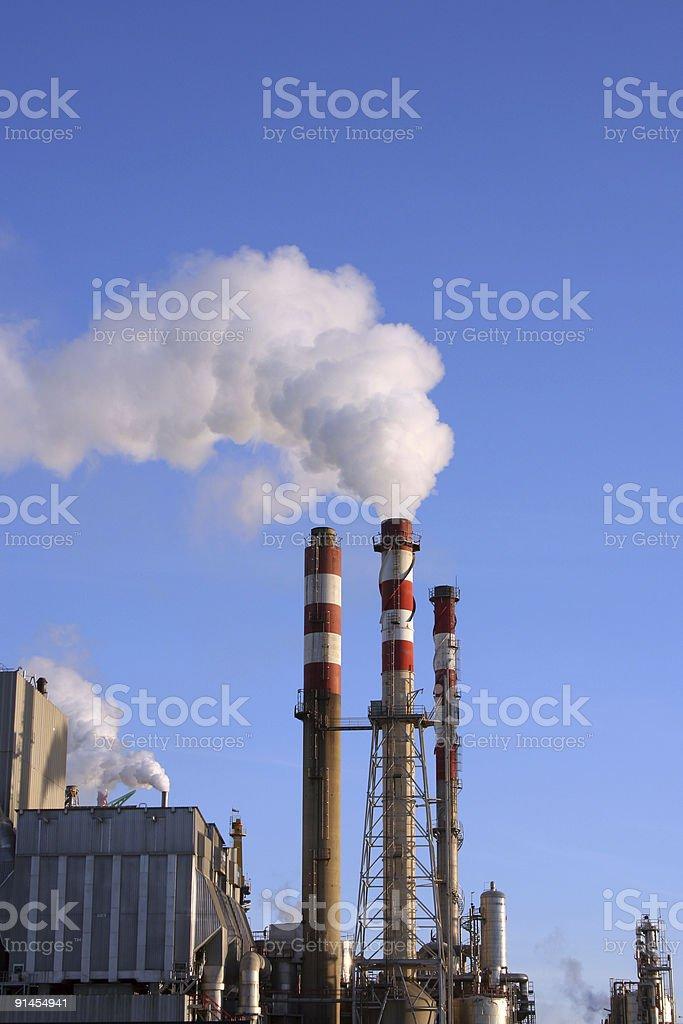 Paper Factory Smoke royalty-free stock photo