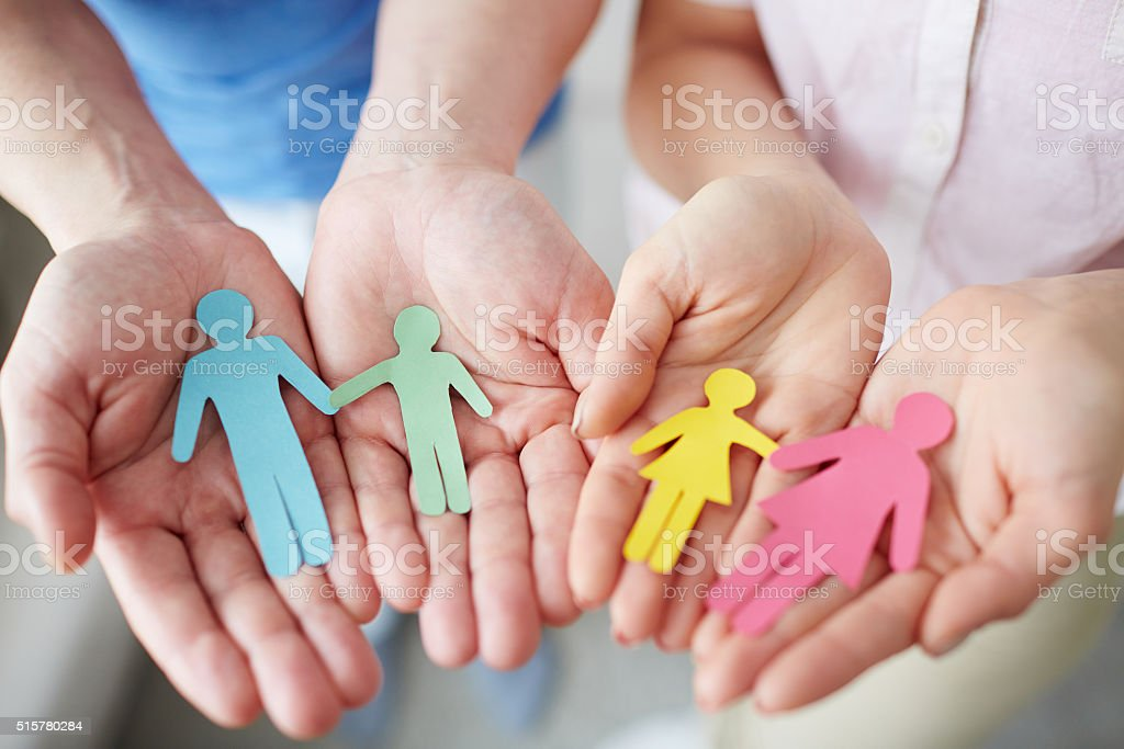 Paper family stock photo