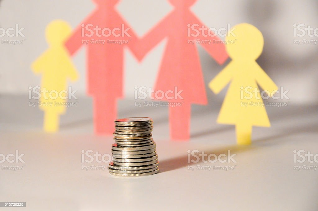 paper family saving stock photo