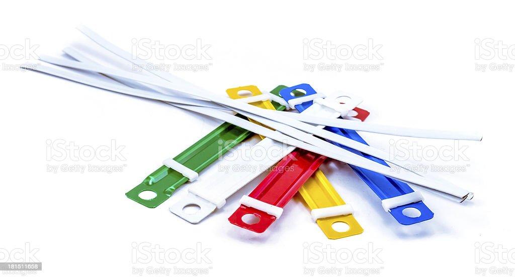 paper fasteners stock photo
