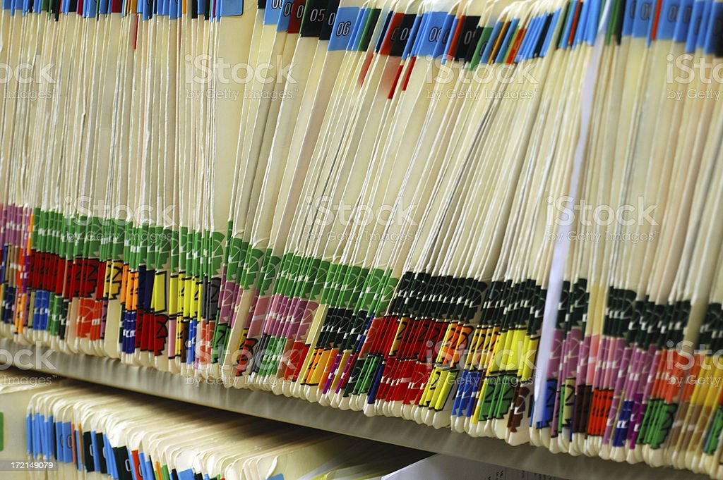 Paper files royalty-free stock photo