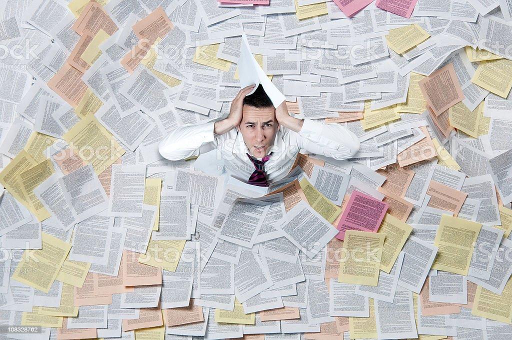 Paper Flood royalty-free stock photo