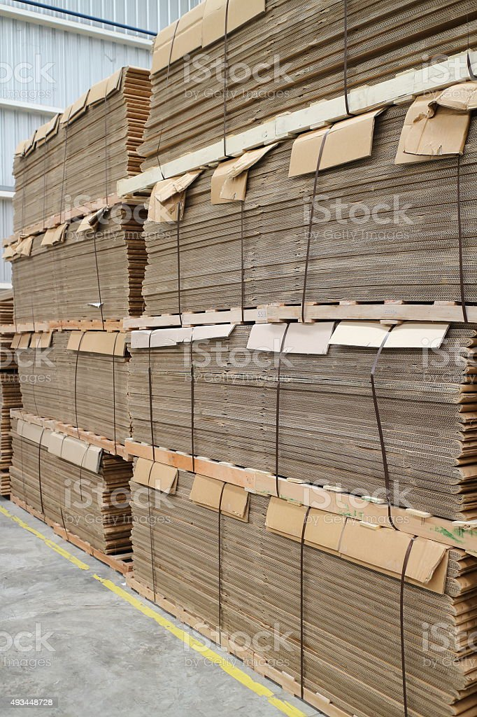 Paper for box stock photo