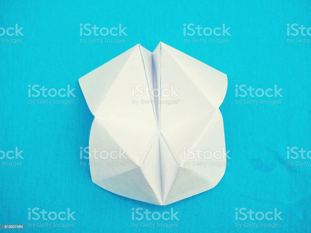Paper fortune teller stock photo