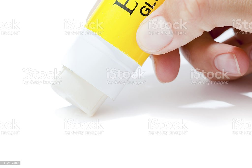 Paper glue stock photo