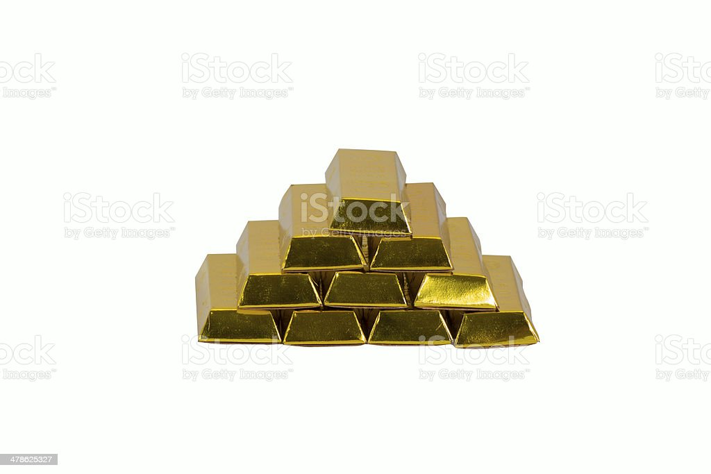 paper golden bar stock photo
