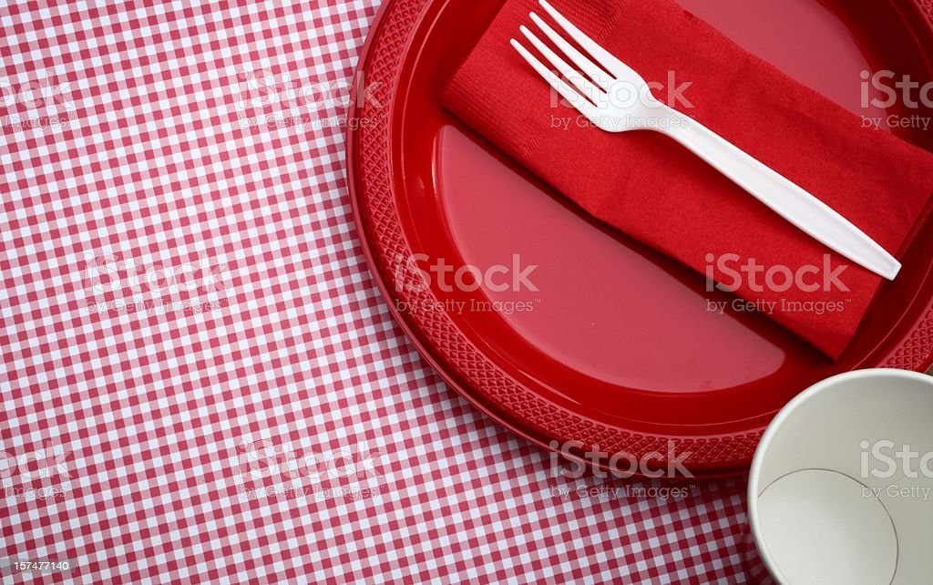 Paper Goods Picnic royalty-free stock photo