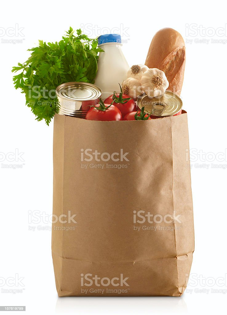 Paper Grocery Bag royalty-free stock photo