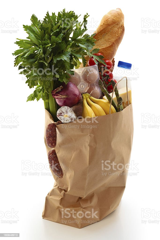 Paper Grocery Bag. royalty-free stock photo