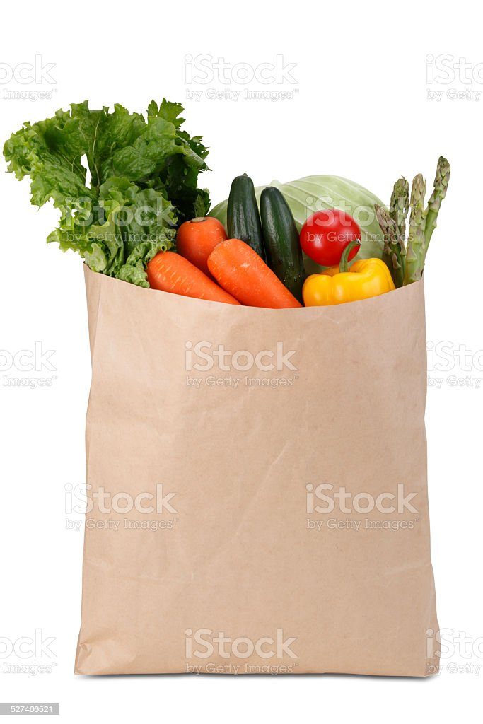 Paper Grocery Bag stock photo