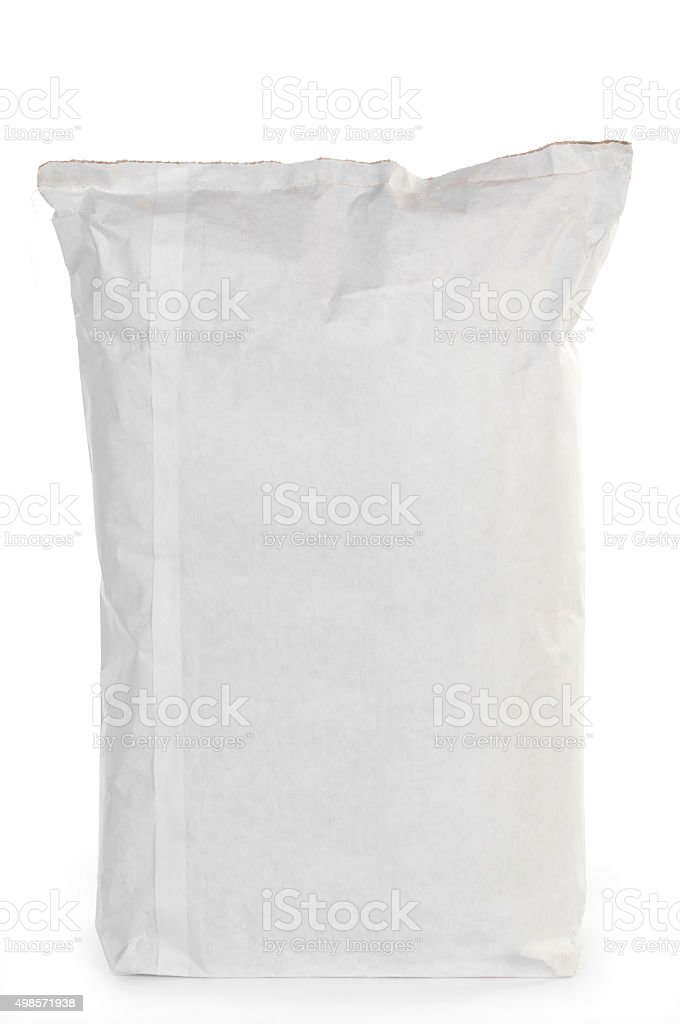 Paper gunny bag isolated stock photo