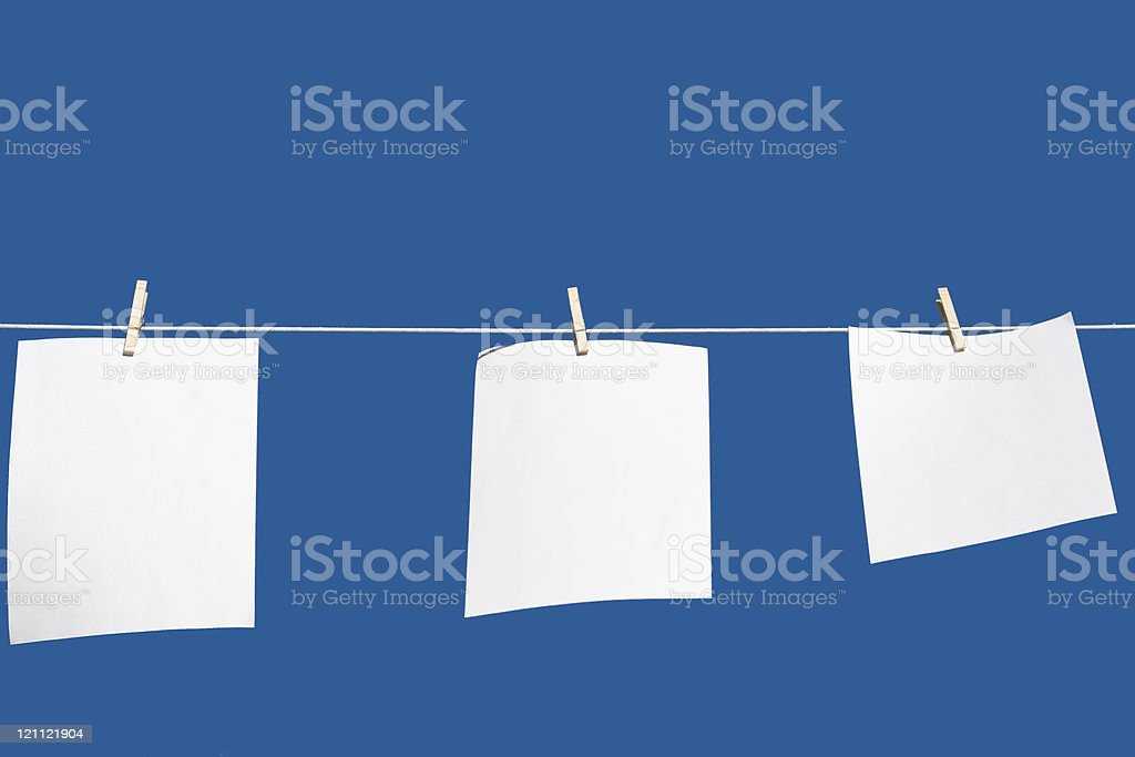 paper hang royalty-free stock photo