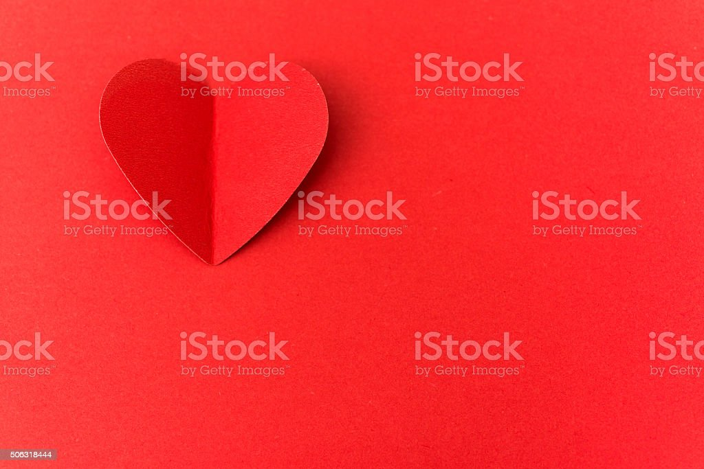 Paper heart stock photo