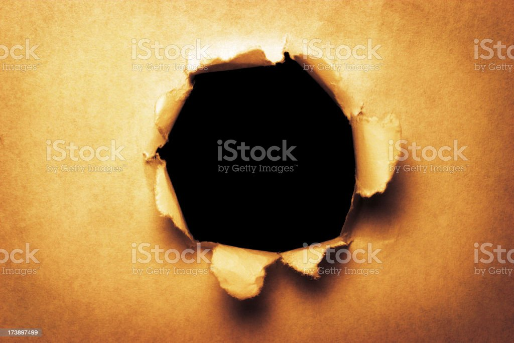 Paper Hole stock photo