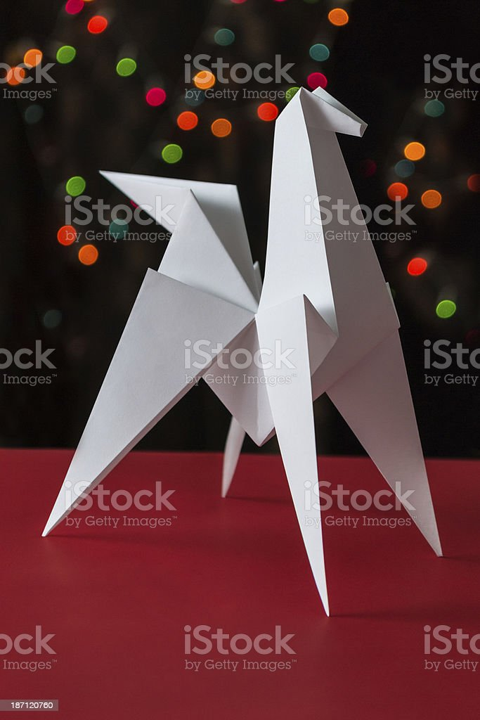 Paper horse - symbol of new 2014 royalty-free stock photo