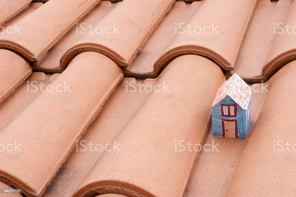 Paper house royalty-free stock photo