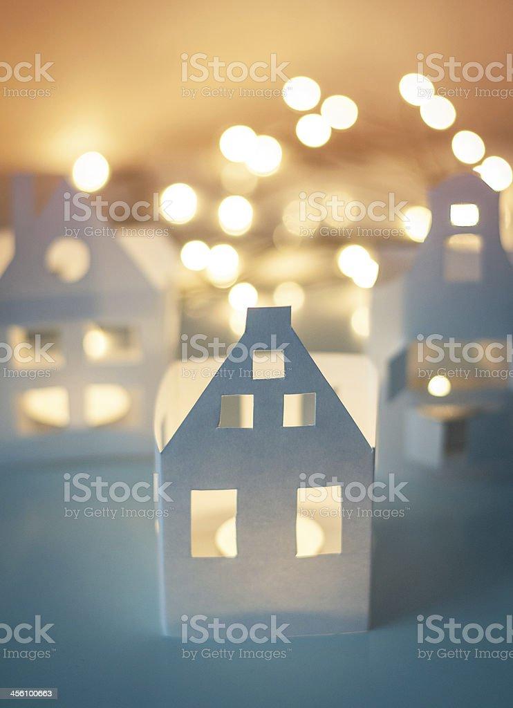 Paper houses stock photo
