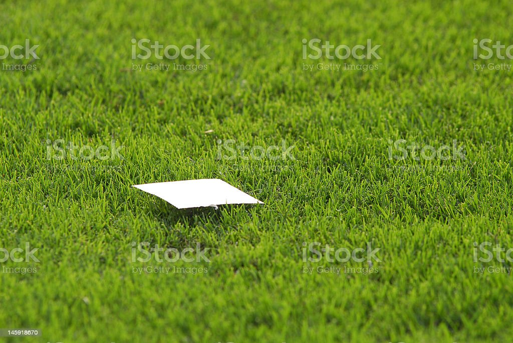 Papier sur l'herbe photo libre de droits