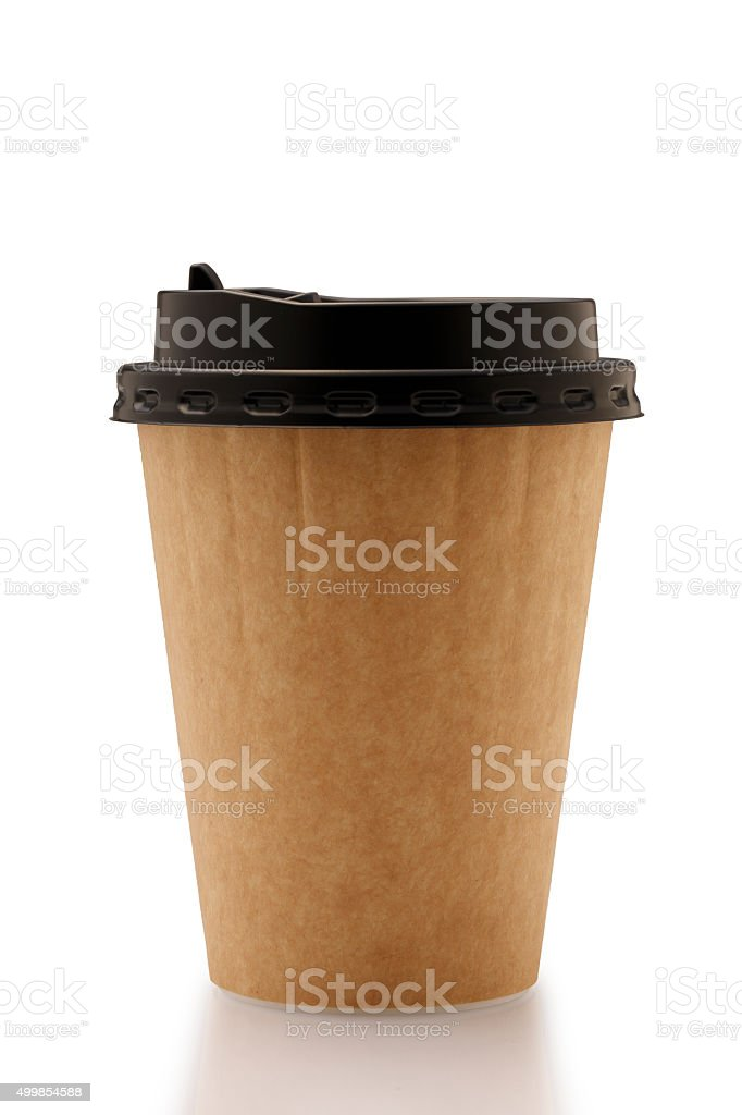 Paper Insulated Coffee Cup stock photo