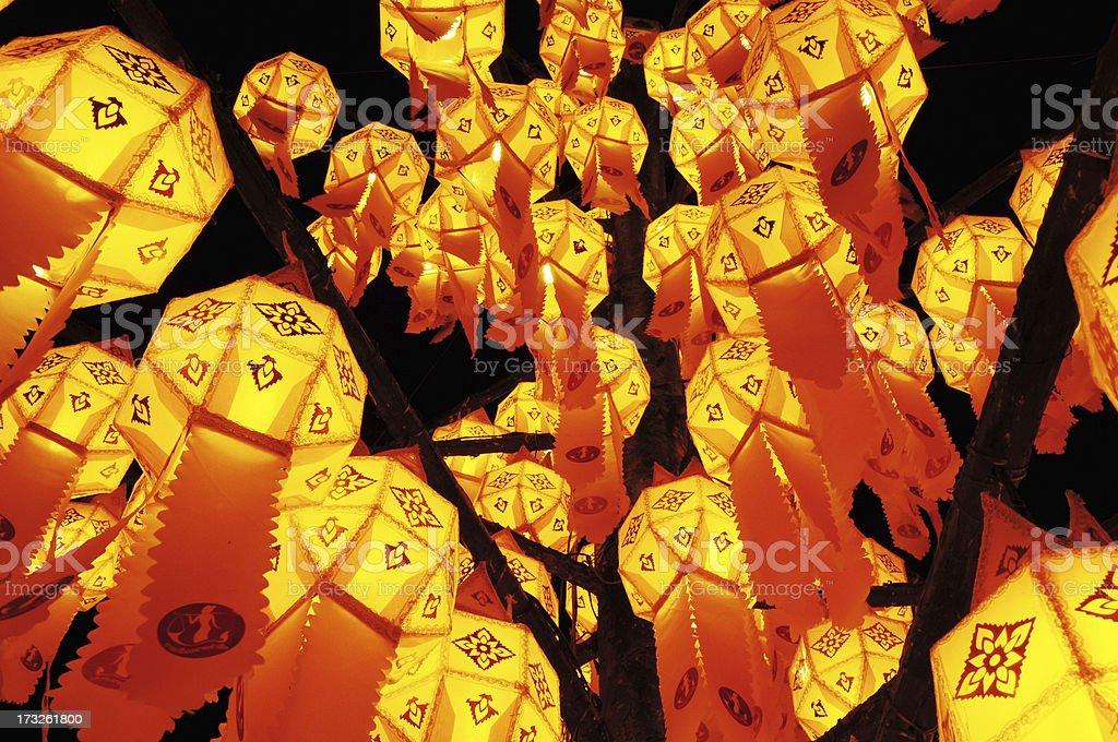 Paper lamp, lanterns festival royalty-free stock photo