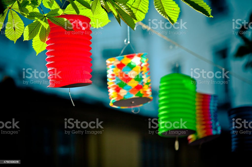 Paper lantern french stock photo