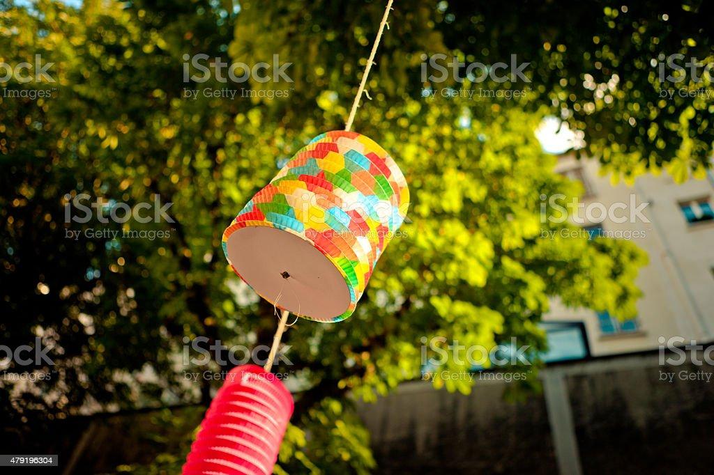 Paper lantern Paris stock photo
