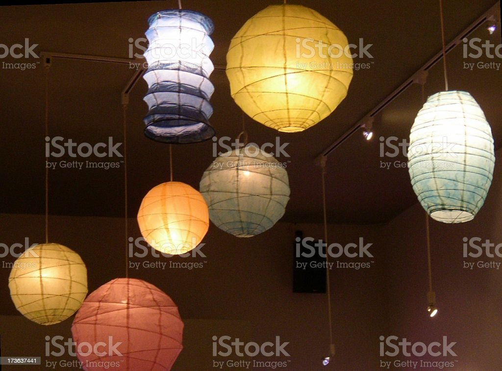 paper lanterns royalty-free stock photo