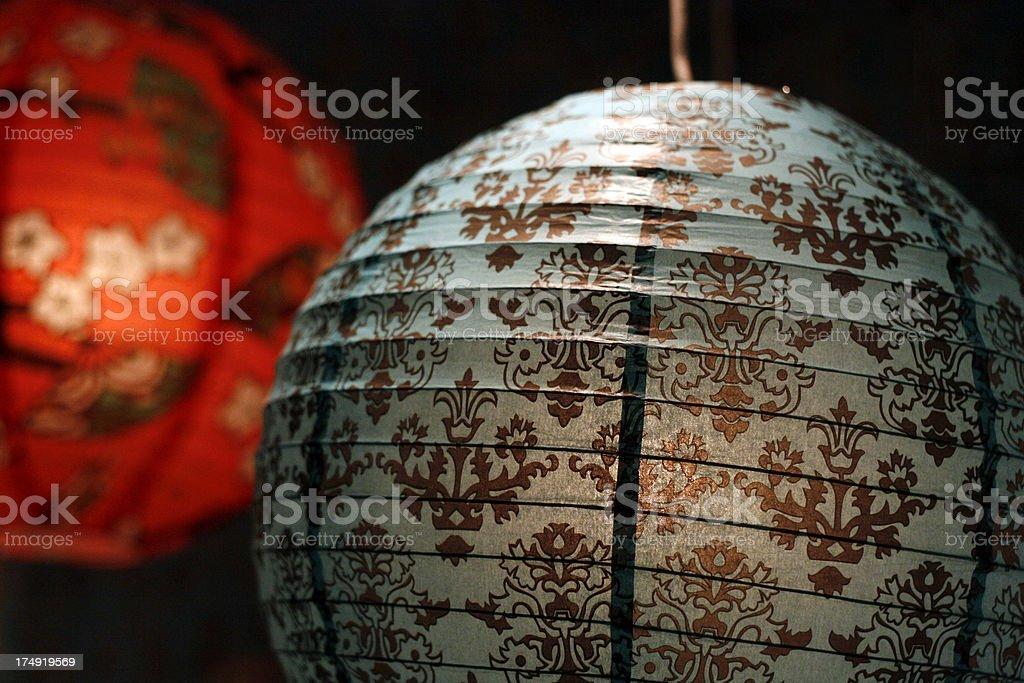 Paper Lanterns royalty-free stock photo