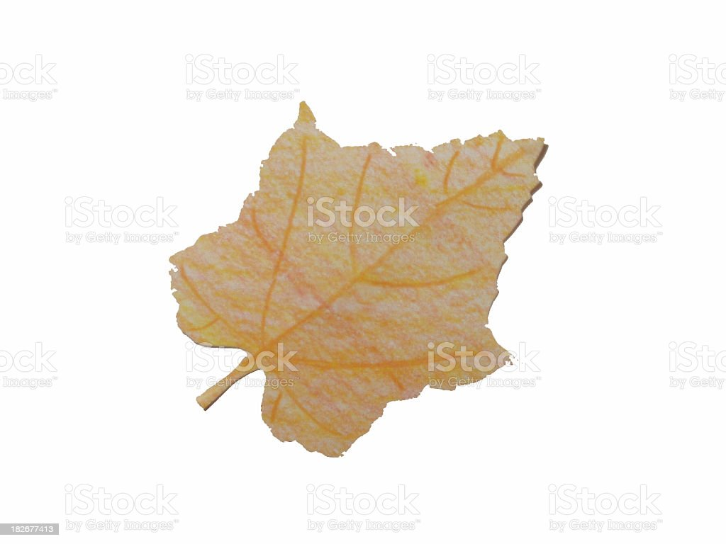 Paper Leaf (2) royalty-free stock photo