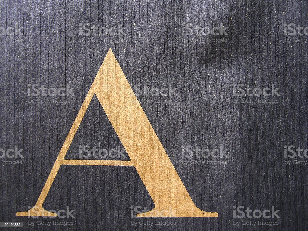 paper - letter A royalty-free stock photo