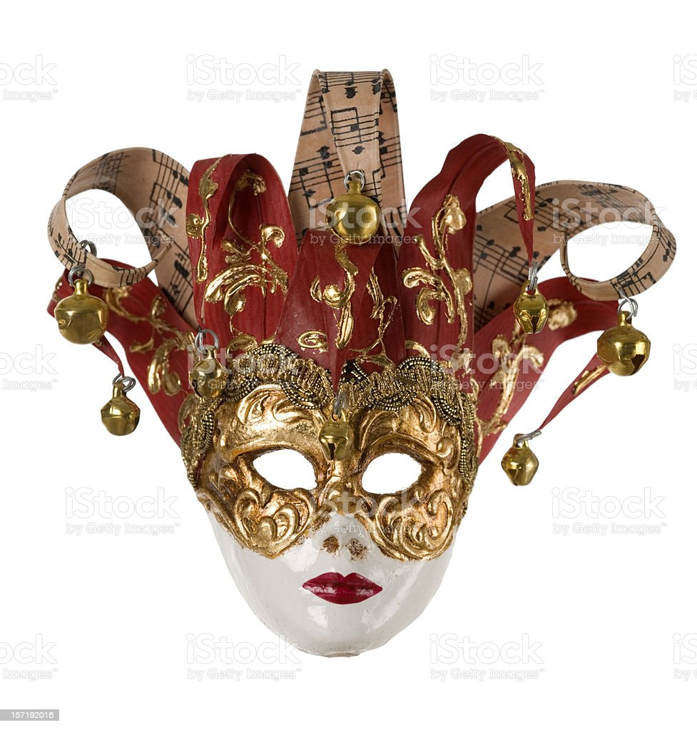 Paper mache mask from Rome stock photo