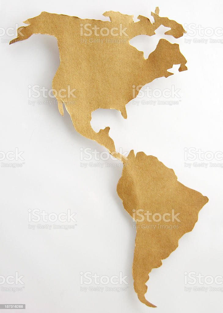 Paper Map stock photo