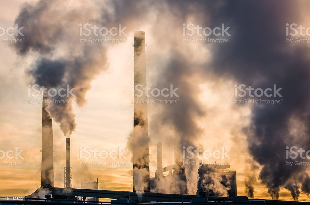 Paper Mill Air Pollution stock photo