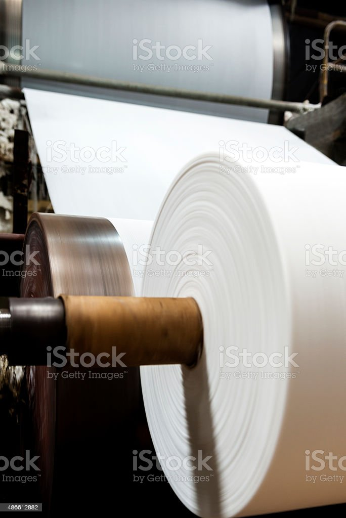 Paper mill Machine stock photo