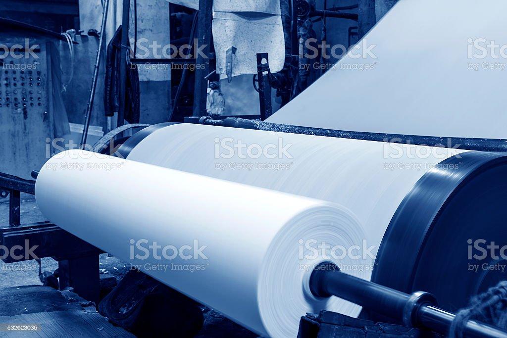 Paper mill Machine stock photo