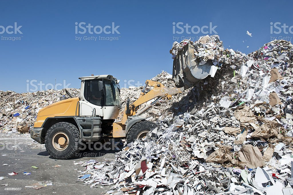 Paper Mill stock photo